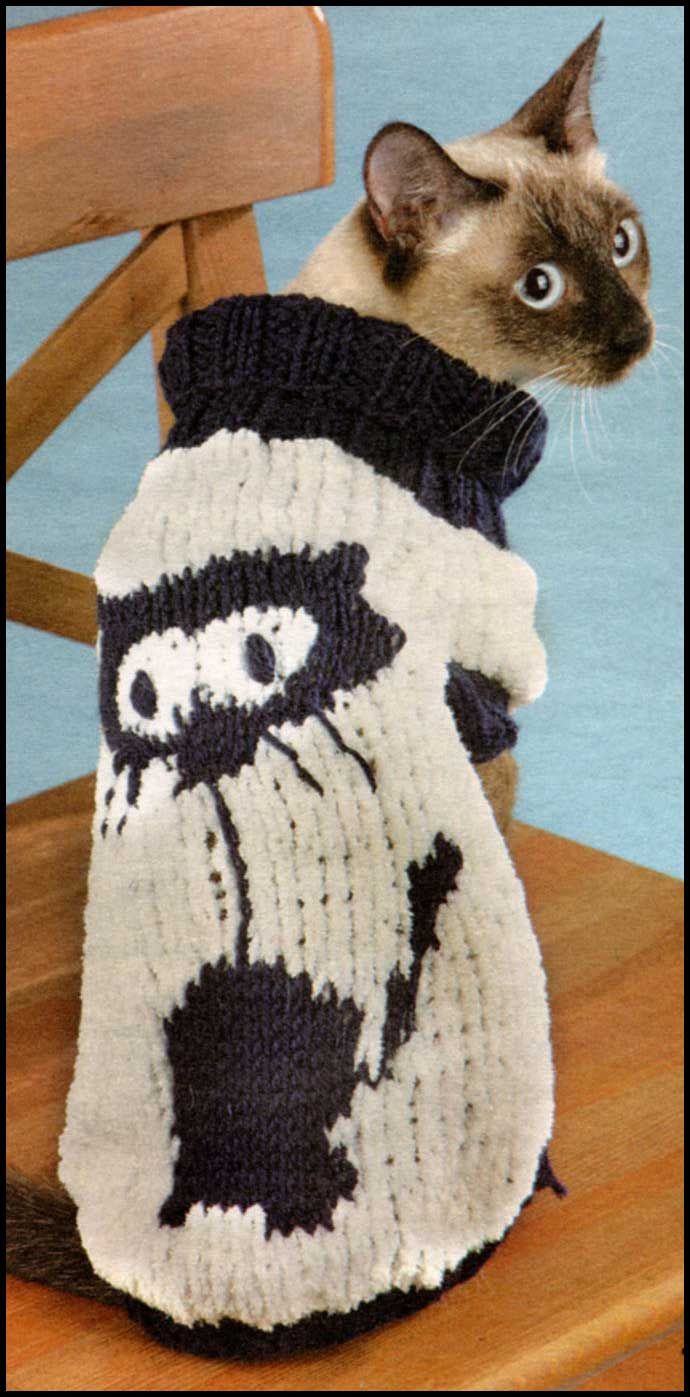 Рисунок кошек для вязания