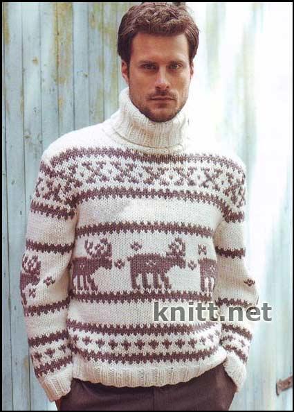 Оригинальный пуловер для