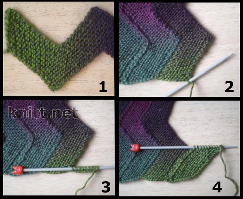 мере вязания без сшивания,