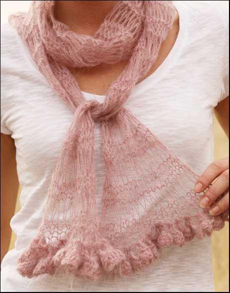 шарф с вытянутыми петлями