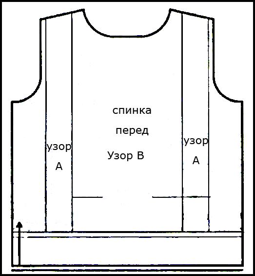 Белый свитер спицами