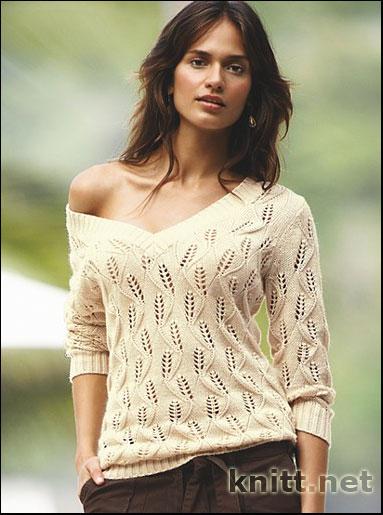 ажурный свитер фото