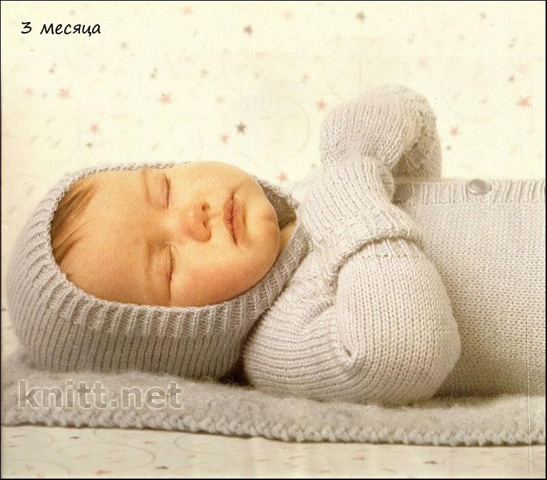 Комбинезон с ушками, варежки и одеяло (3 месяца) | knitt.net | Все