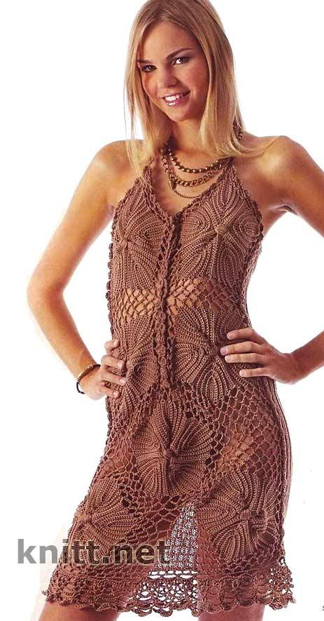 вязание- платье, сарафаны   Записи в рубрике вязание- платье