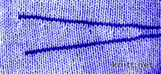 Как сделать вытачку в вязании