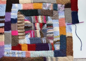 Одеяло Зиг-Заг из 10 петель